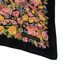 YSL Vintage Floral Handpocket Scarf